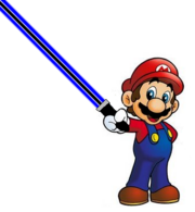 New Mario With Blue Darksaber