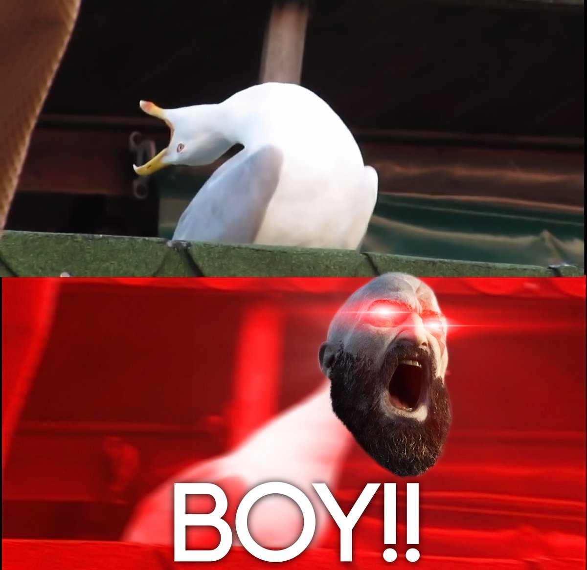 HAVE YOU THOUGHT OF a NAME YET? BoY? THATS a RIDICULOUS ... |Kratos Npc Meme