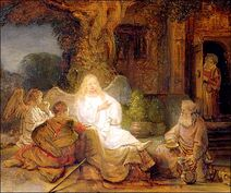 Rembrandt Abraham Serving the Three Angels