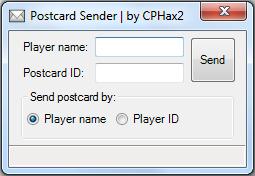Postcard Sender interface