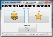 Access member rooms interface
