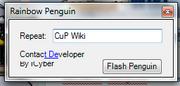 Rainbow Penguin interface