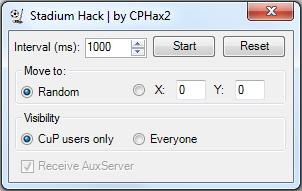 Stadium Hack interface