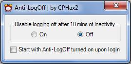 Anti-LogOff interface