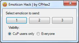 Emoticon Hack new interface