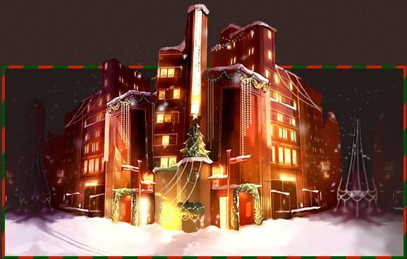 Christmas Street Building