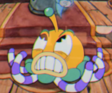 Jelly after parrying his antenna