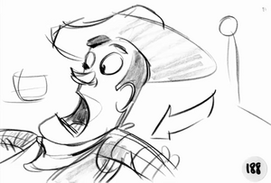 Scared Woody