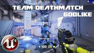 Unreal Tournament 4 - Team Deathmatch with Godlike bots in Outpost 23