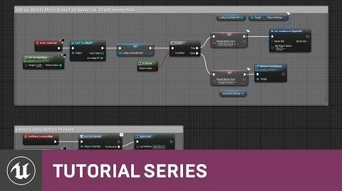 Video - Blueprint Multiplayer- Lobby Menu Graph - 14 - v4 11