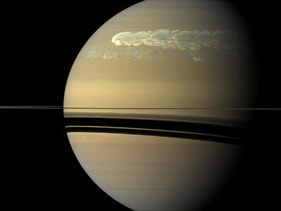 Tormenta en Saturno por Cassini