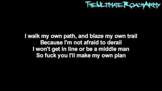 Papa Roach - Not Listening Lyrics on screen HD