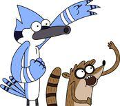 Mordecai y Rigby diciendo Ohhhhh