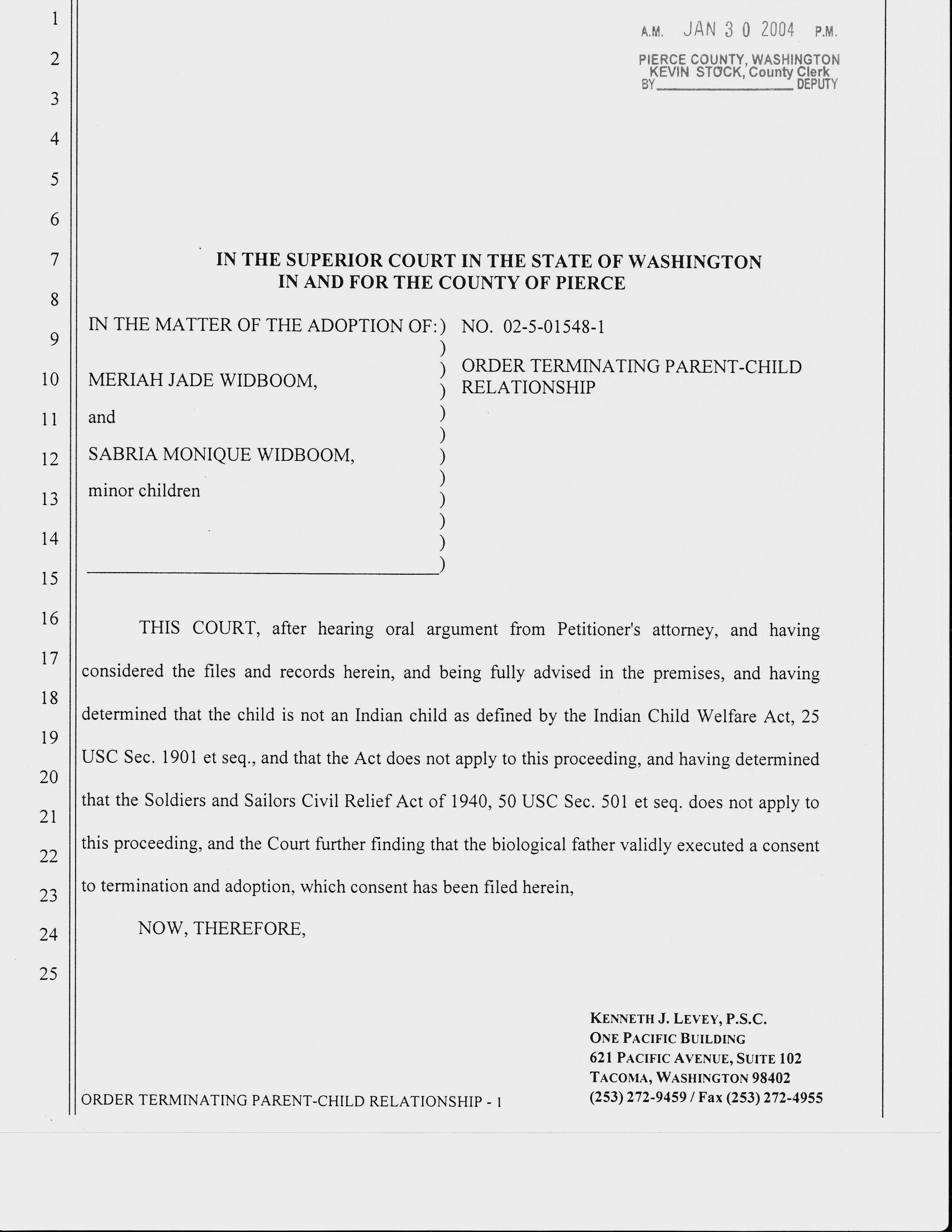 Image - Brian Widboom Termination Parental Rights Order jpg