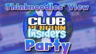 Club Penguin Insiders Party - From Thinknoodles View