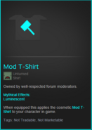 Mod T-Shirt Item Description