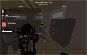 Corporal Matthieu tools trader