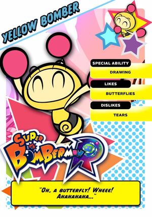 Yellow Bomber card