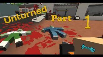Unturned Gameplay Walkthrough Part 1 - Zombie Killing Mashine