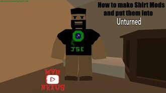 How to make Shirts and put them into Unturned!