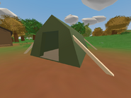 Souris Campground - green tent