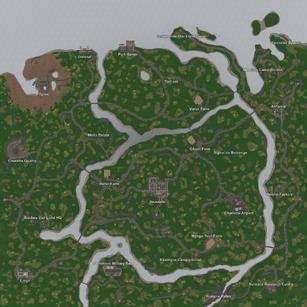 Map Satellite Belgium 1