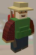 Player wearing Fishing Hat
