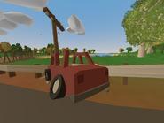 Liberation Bridge - car wreck