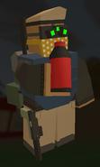 Player holding Bottled Cola
