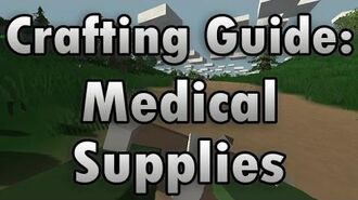 Unturned Crafting Guide Medical Supplies - How to Make a Splint, Crushed Berries, and Rags