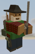 Player holding Fishing Rod