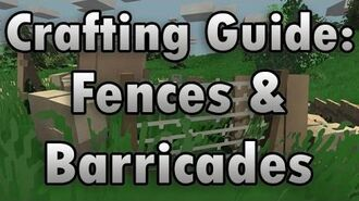 Unturned Crafting Guide Barricades & Fences - How to Make a Wooden Shield, Wire Fence, and More