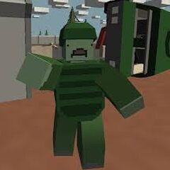 Zombie soldado con uniforme de bosque. (Más fuertes)