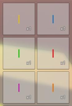 Distintas barras luminosas