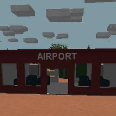 Entrada al aeropuerto