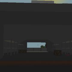 Hangar izquierdo del aeropuerto