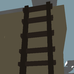Escalera para acceder al techo de la torre