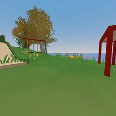 Mini parque para ninños en la Isla
