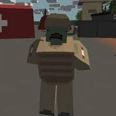 Zombie soldado con uniforme del desierto (más fuertes)