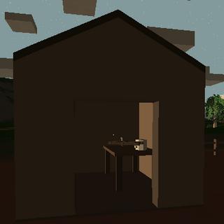 Caseta en la granja