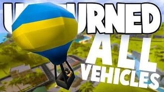 Unturned Hawaii Overhaul ALL THE NEW VEHICLES! (Hot Air Balloon, Lamborghini, Gyrocopter, & More)