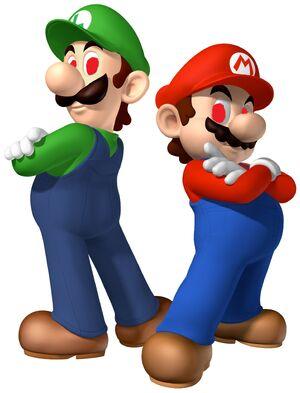 Mario Luigi Standing