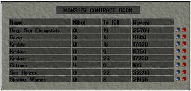 Monster Contract Window