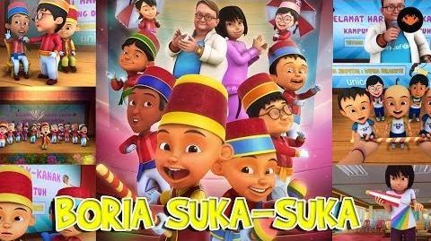 Upin & Ipin - Boria Suka-Suka (With Lyric)