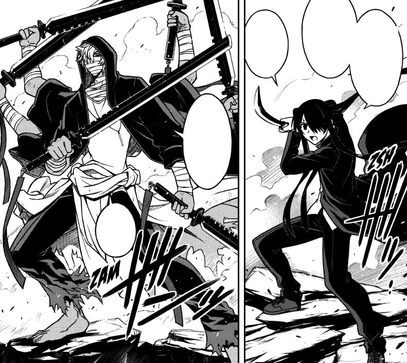 Image - Kuroumaru cutting off Kaitos arm.png   UQ Holder