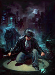 Harry Dresden and Mouse