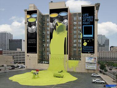 The living billboard 1