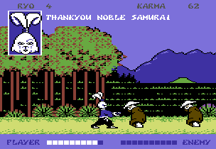 Samurai Warrior C64 gameplay 2