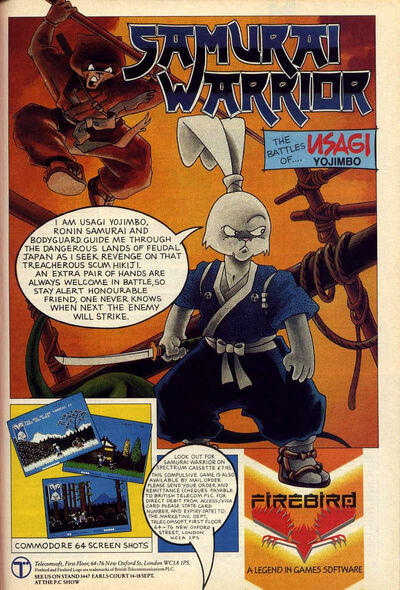 Samurai Warrior ad