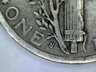 1940-S Mercury Dime Mintmark